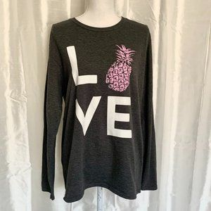 ADORABLE  PINEAPPLE LOVE LONG SLEEVE TEE